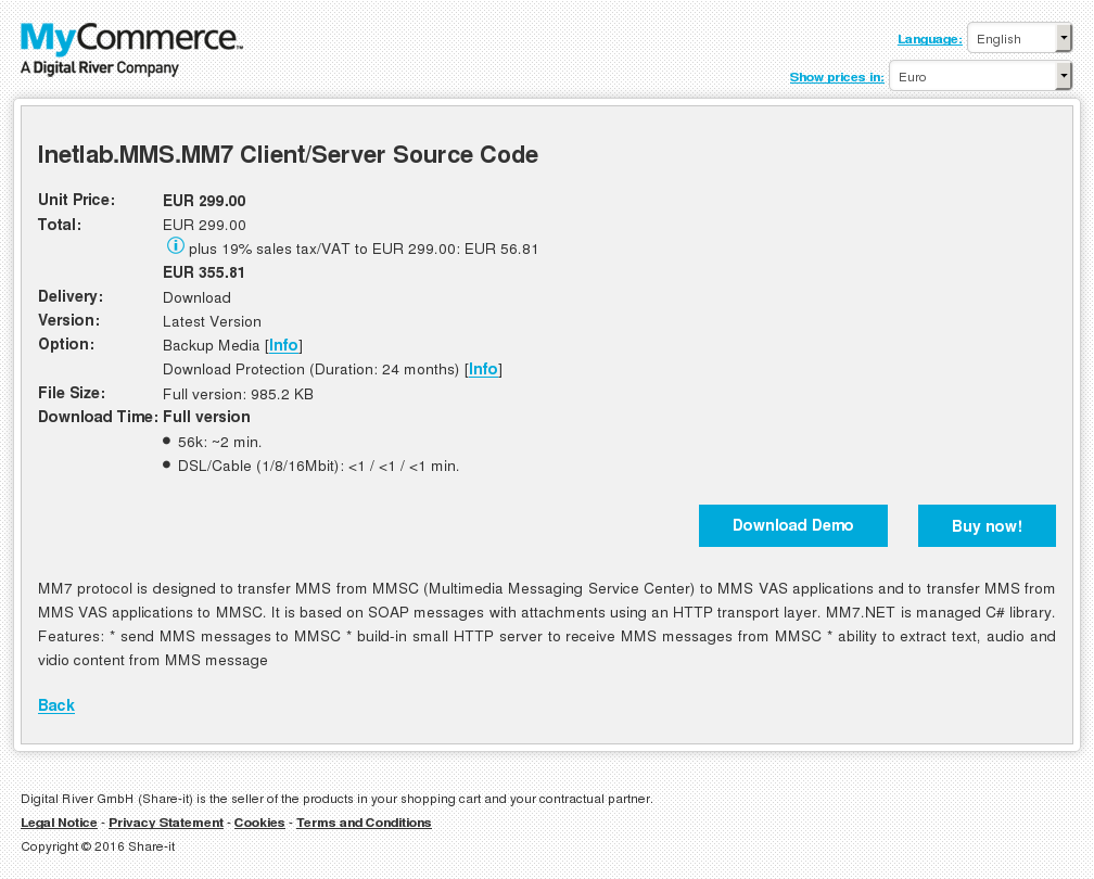 Inetlab.MMS.MM7 Client/Server Source Code