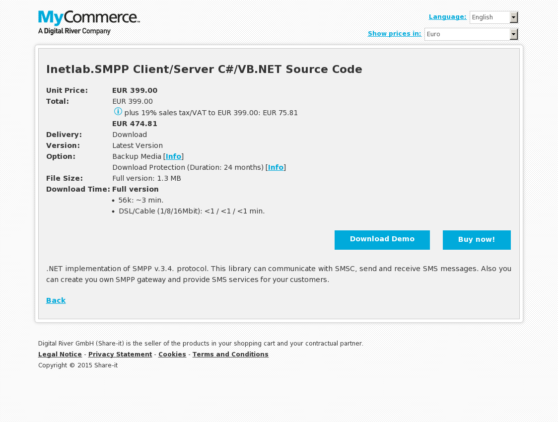 Inetlab.SMPP Client/Server C#/VB.NET Source Code