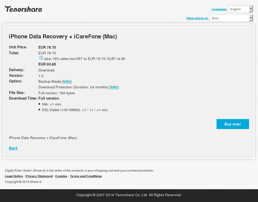 iPhone Data Recovery + iCareFone (Mac)