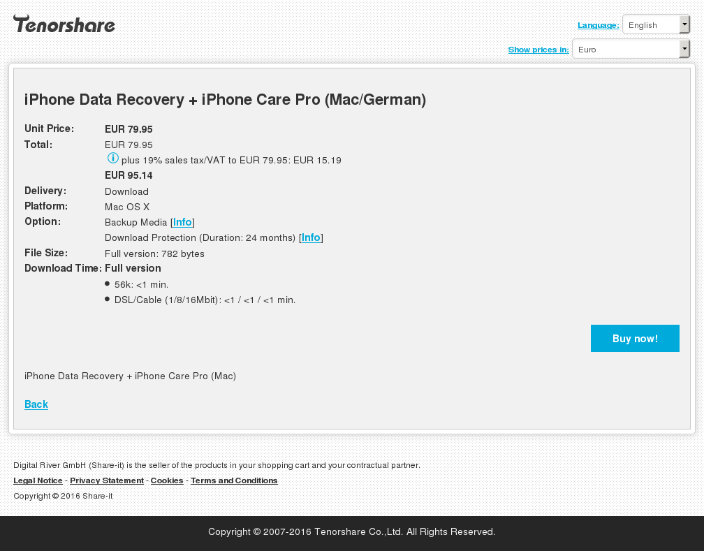 iPhone Data Recovery + iPhone Care Pro (Mac/German)