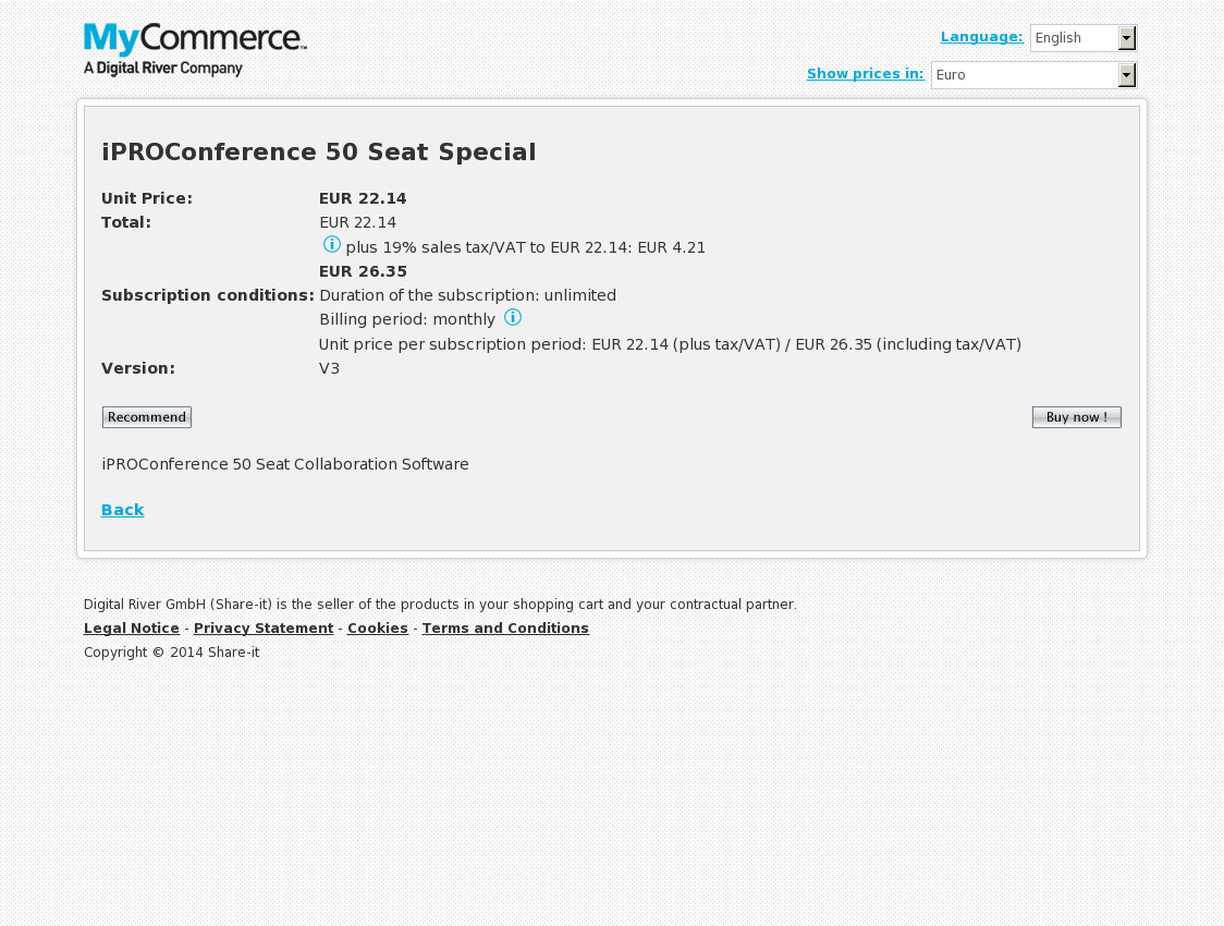 iPROConference 50 Seat Special