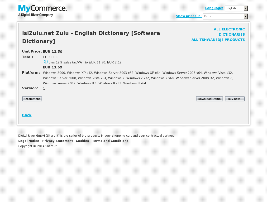 isiZulu.net Zulu - English Dictionary [Software Dictionary]