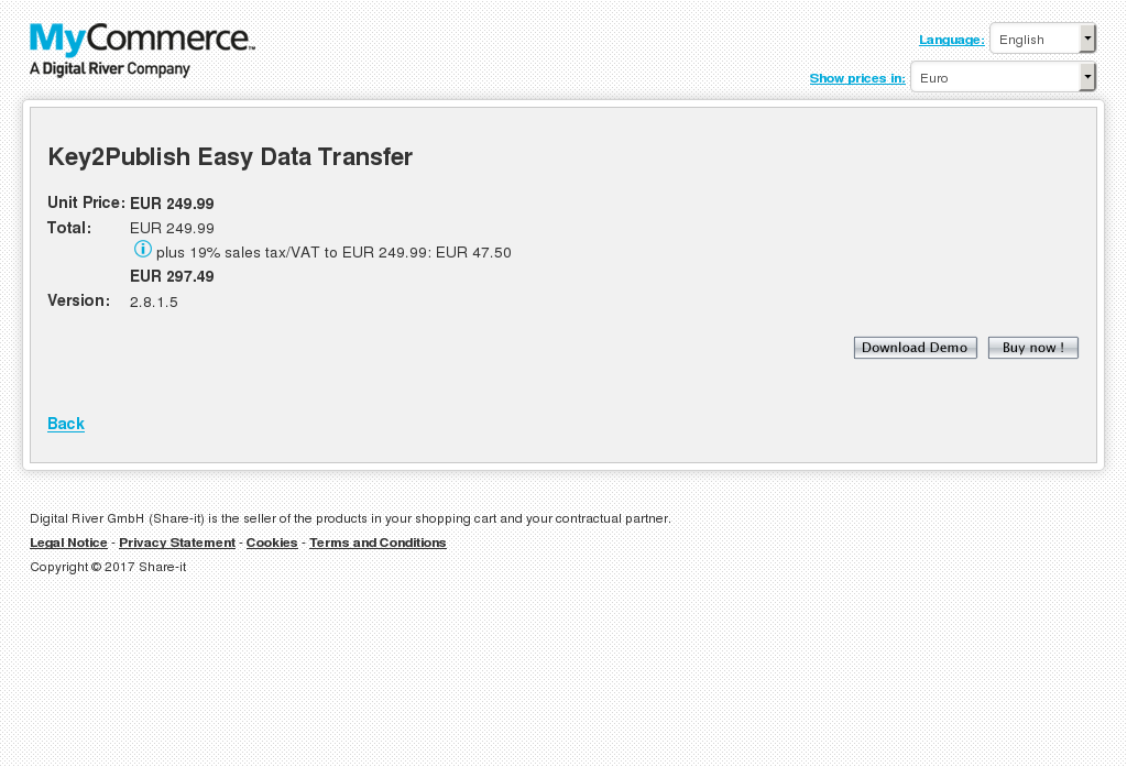 Key2Publish Easy Data Transfer