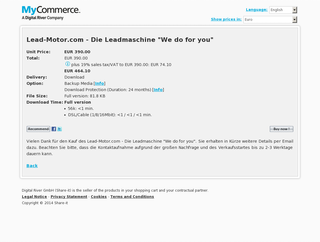 "Lead-Motor.com - Die Leadmaschine ""We do for you"""
