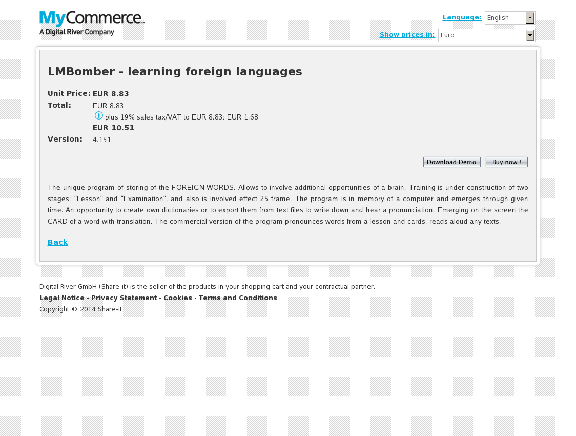 LMBomber - learning foreign languages