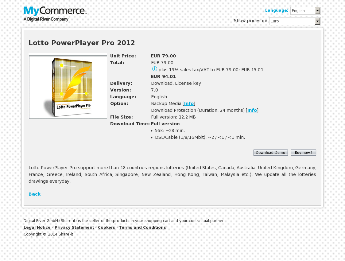 Lotto PowerPlayer Pro 2012