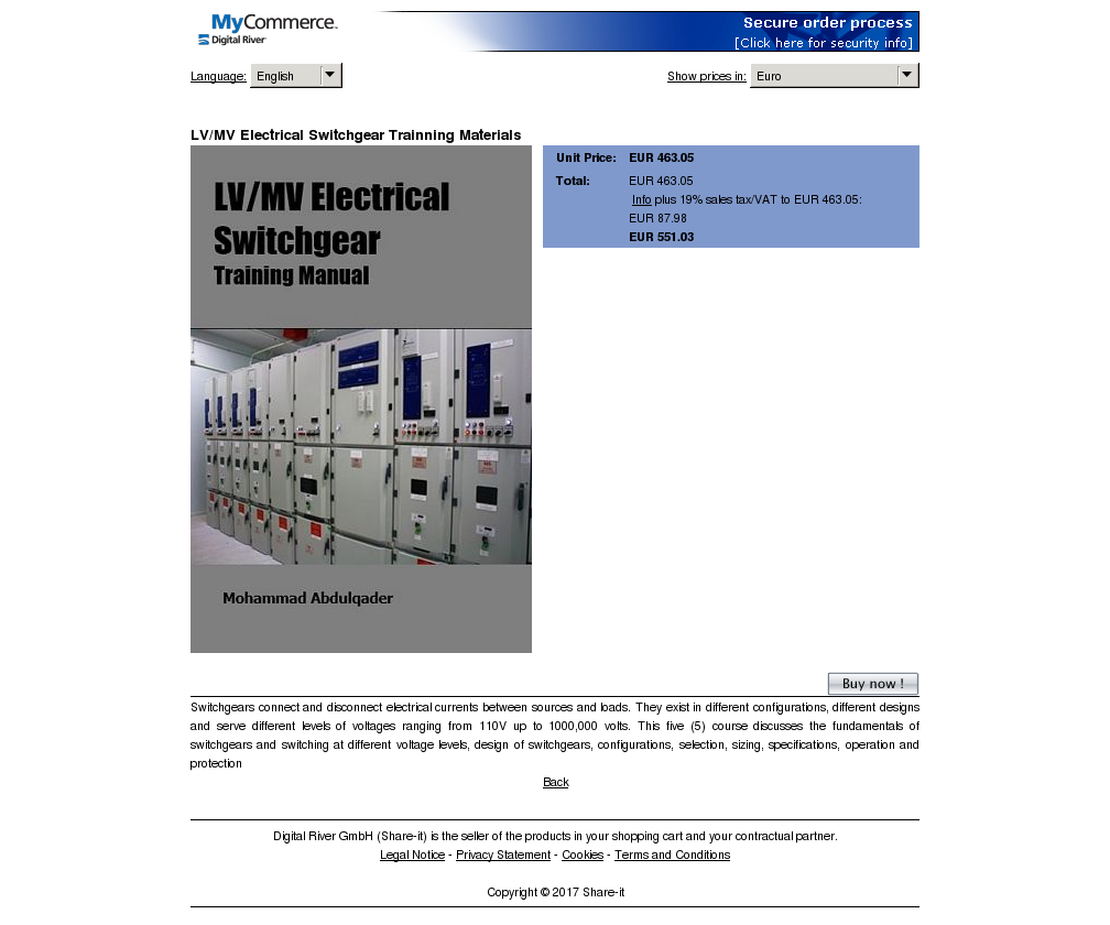 LV/MV Electrical Switchgear Trainning Materials