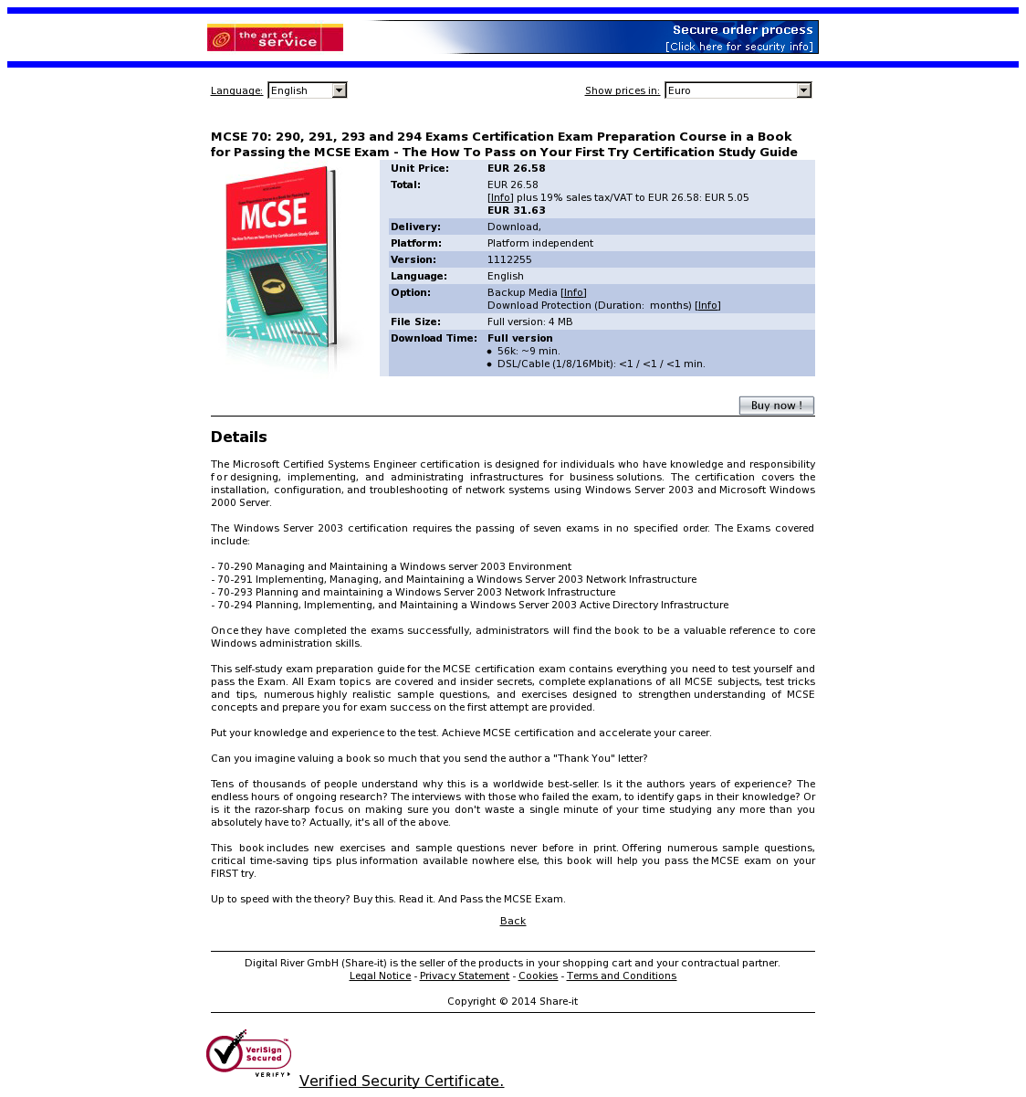 MCSE 70: 290, 291, 293 and 294 Exams Certification Exam Preparation Course in a Book for Passing the MCSE Exam - The How To Pass on Your First Try Certification Study Guide