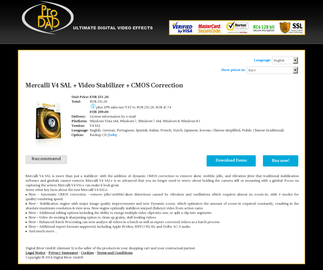 Mercalli V4 SAL + Video Stabilizer + CMOS Correction