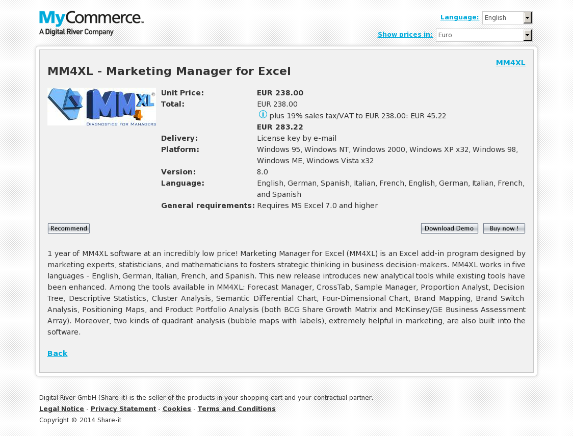 MM4XL - Marketing Manager for Excel