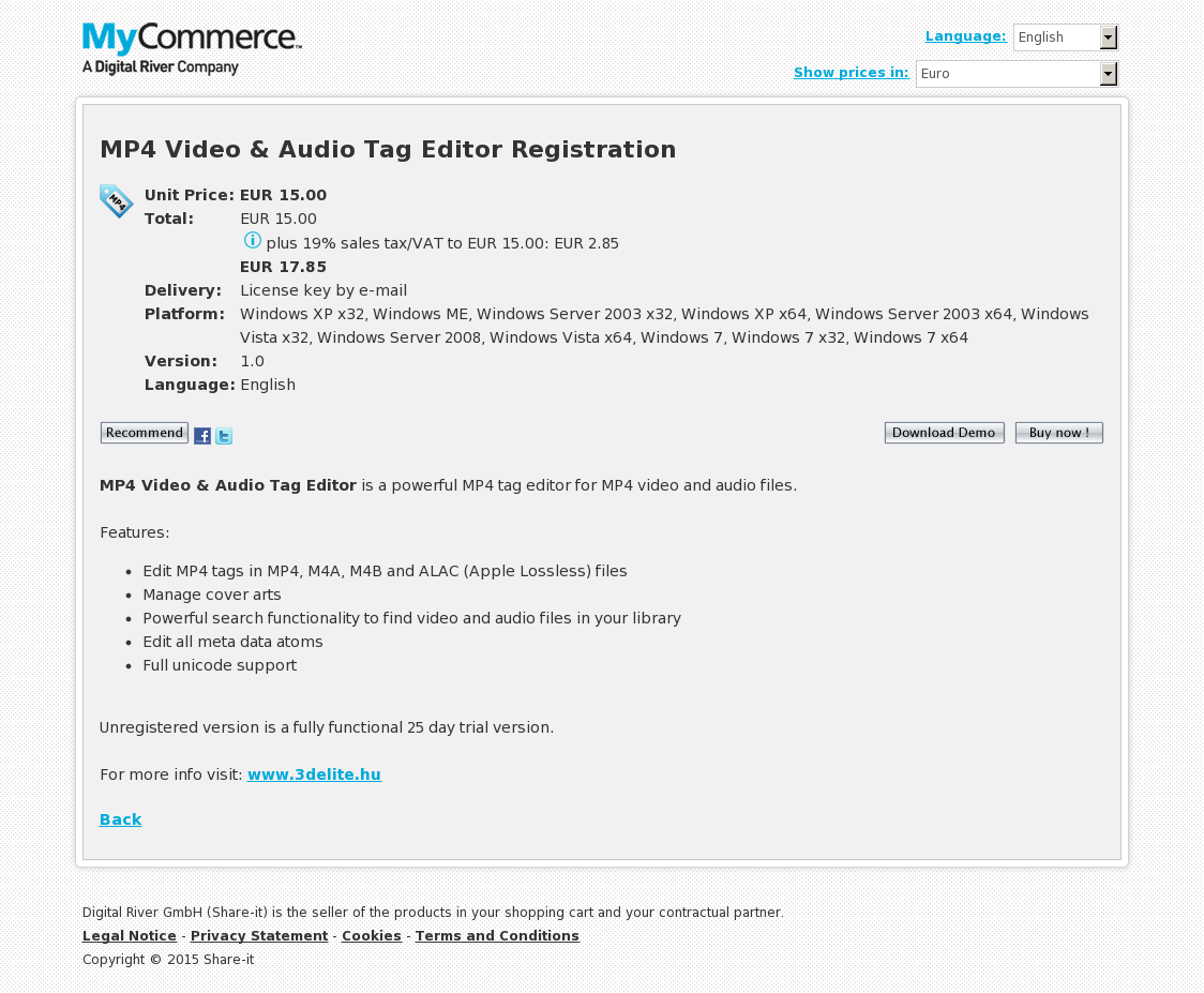MP4 Video & Audio Tag Editor Commercial Registration