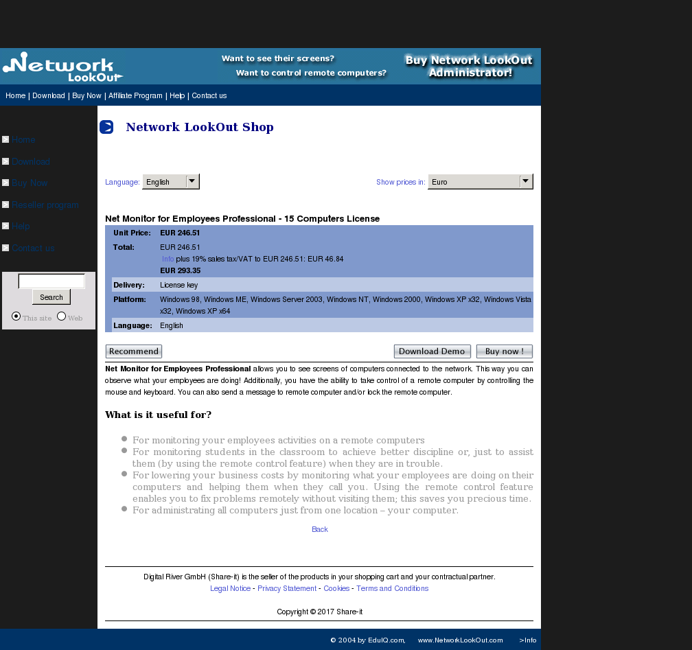 Net Monitor for Employees Professional - 15 Computers License