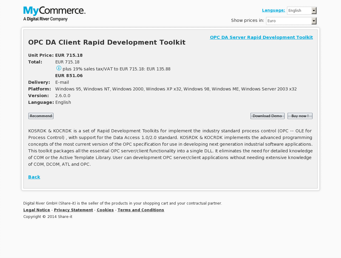 OPC Server & OPC Client Rapid Development Toolkits Package