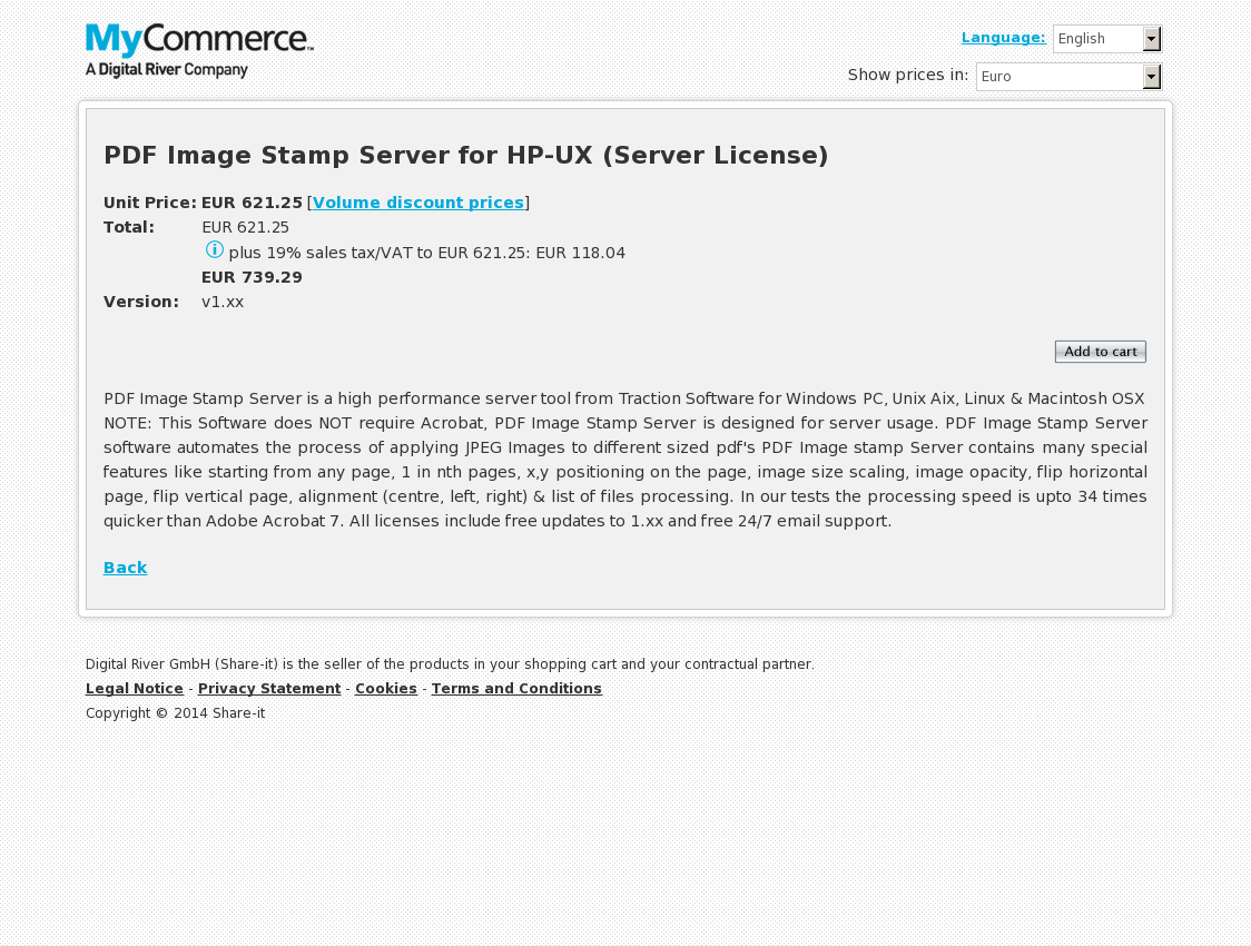 PDF Image Stamp Server for HP-UX (Server License)