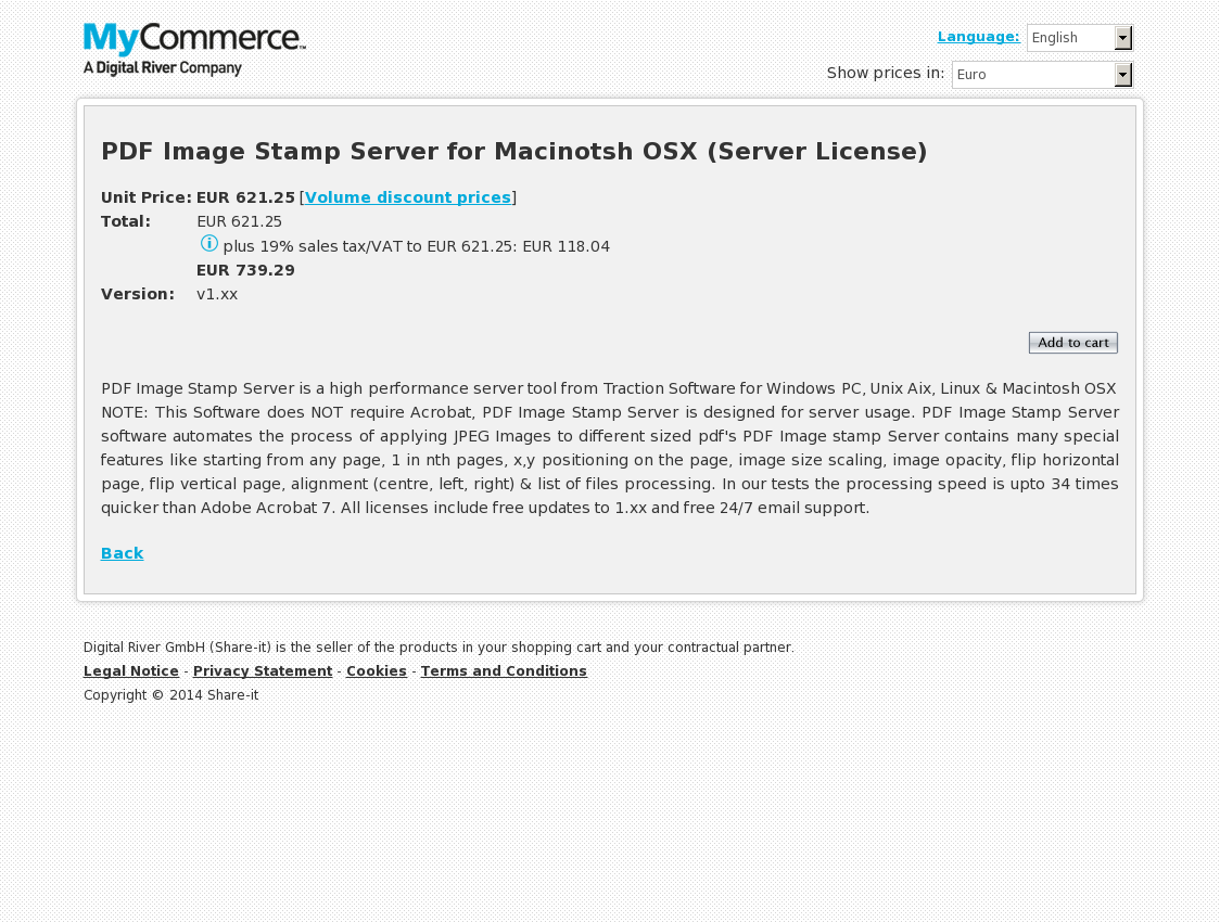 PDF Image Stamp Server for Macinotsh OSX (Server License)