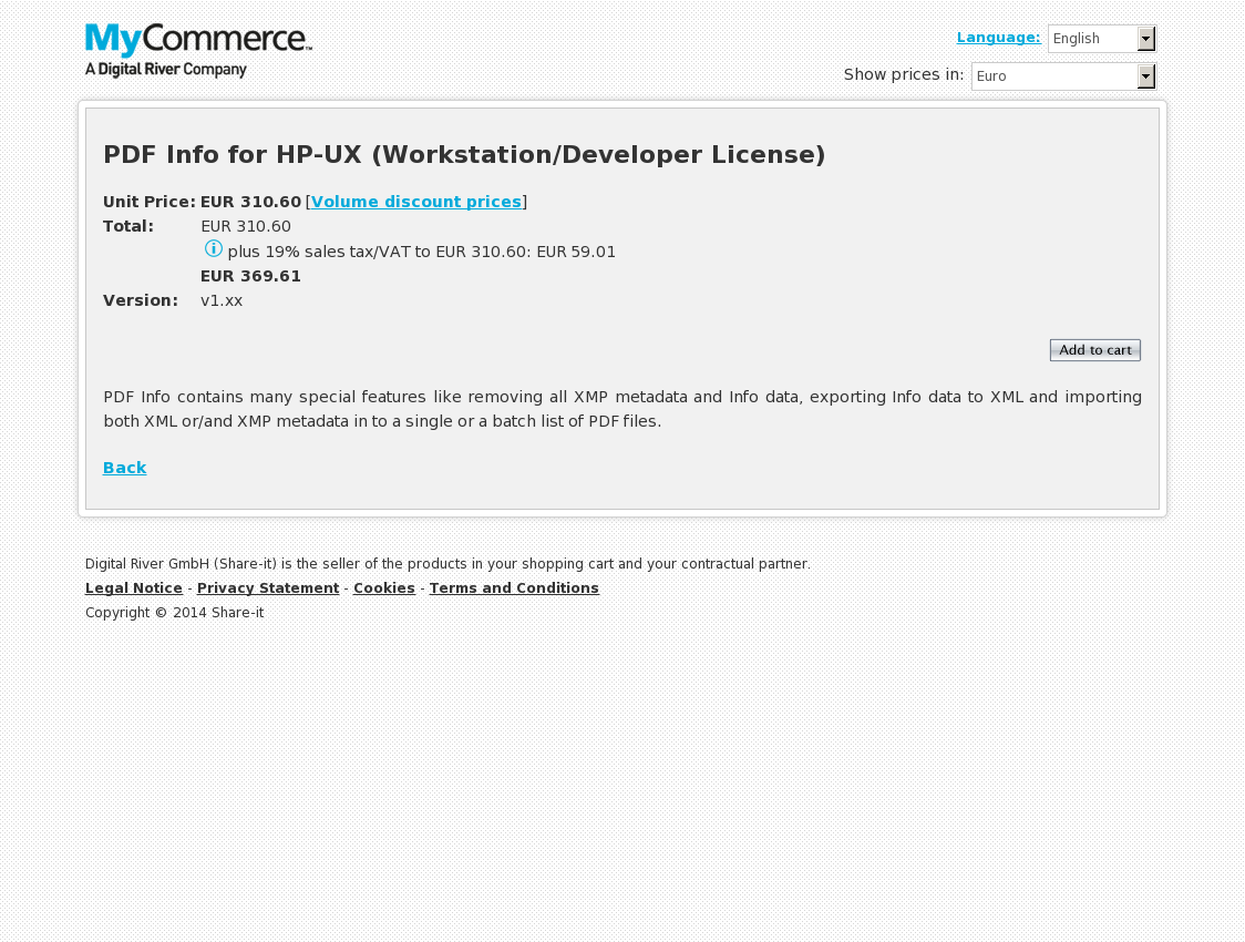 PDF Info for HP-UX (Workstation/Developer License)
