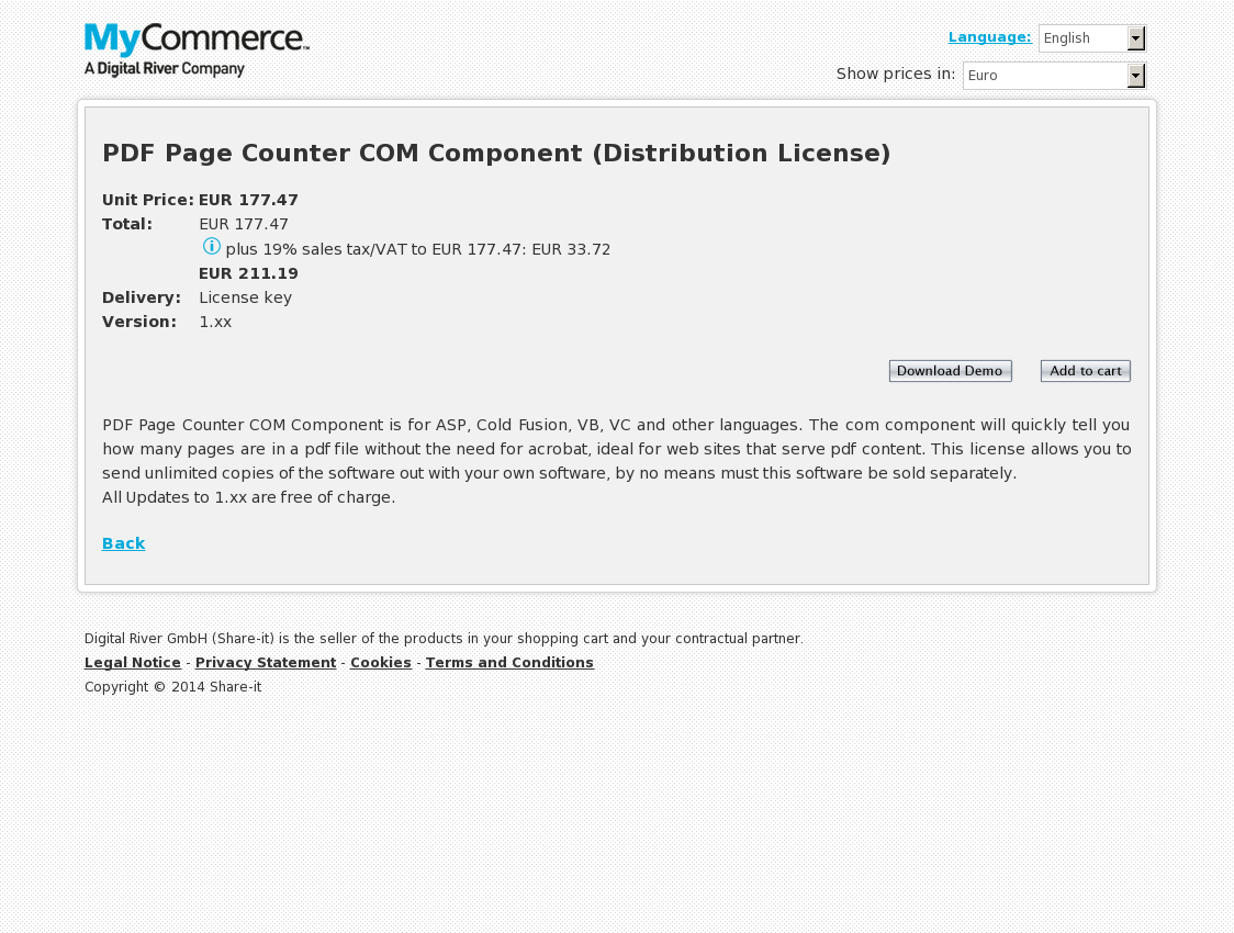 PDF Page Counter COM Component (Distribution License)