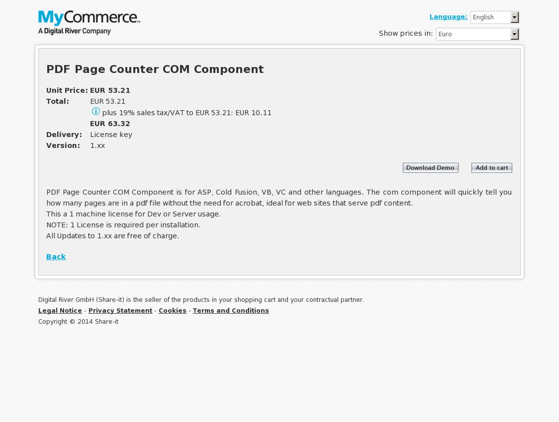 PDF Page Counter COM Component