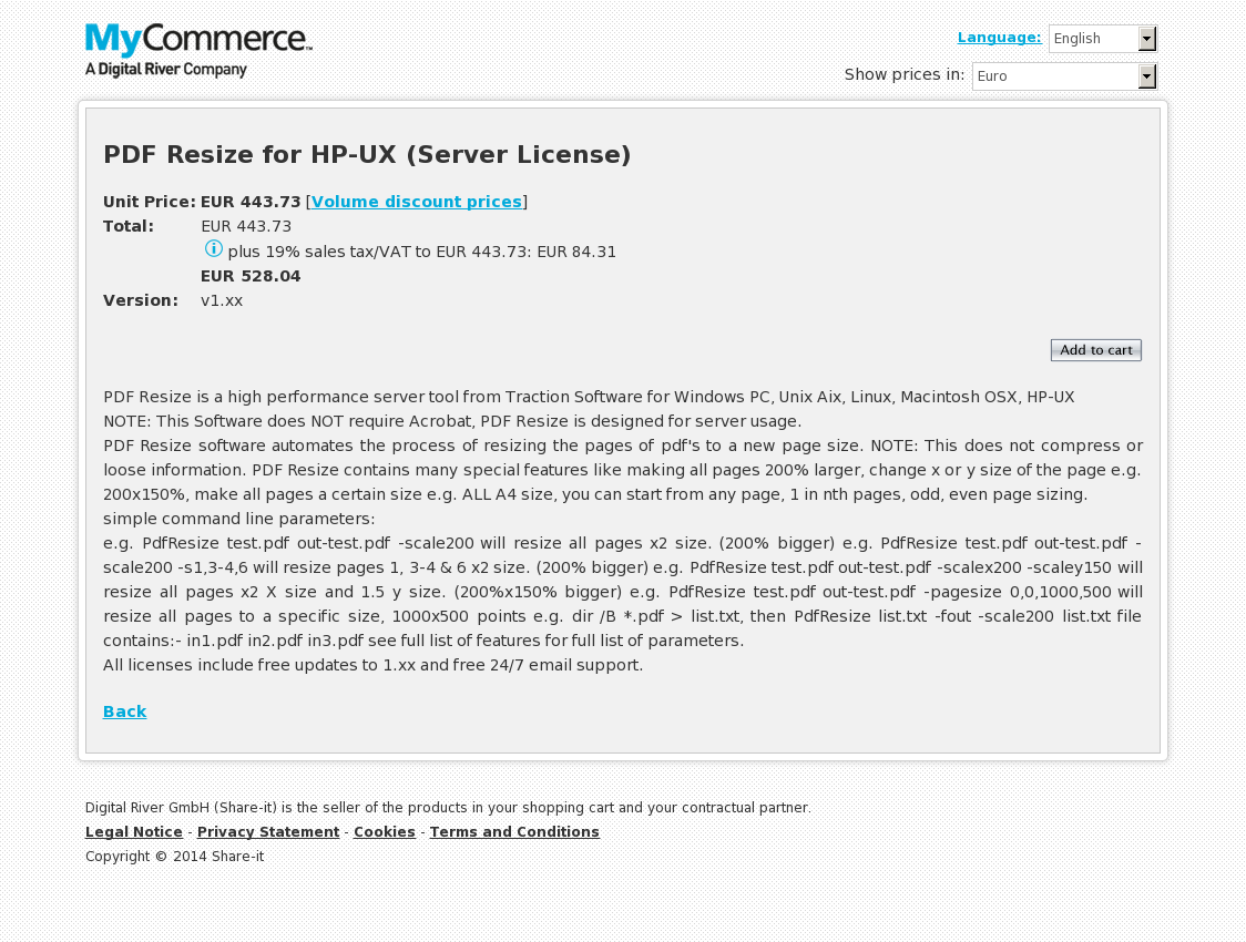 PDF Resize for HP-UX (Server License)