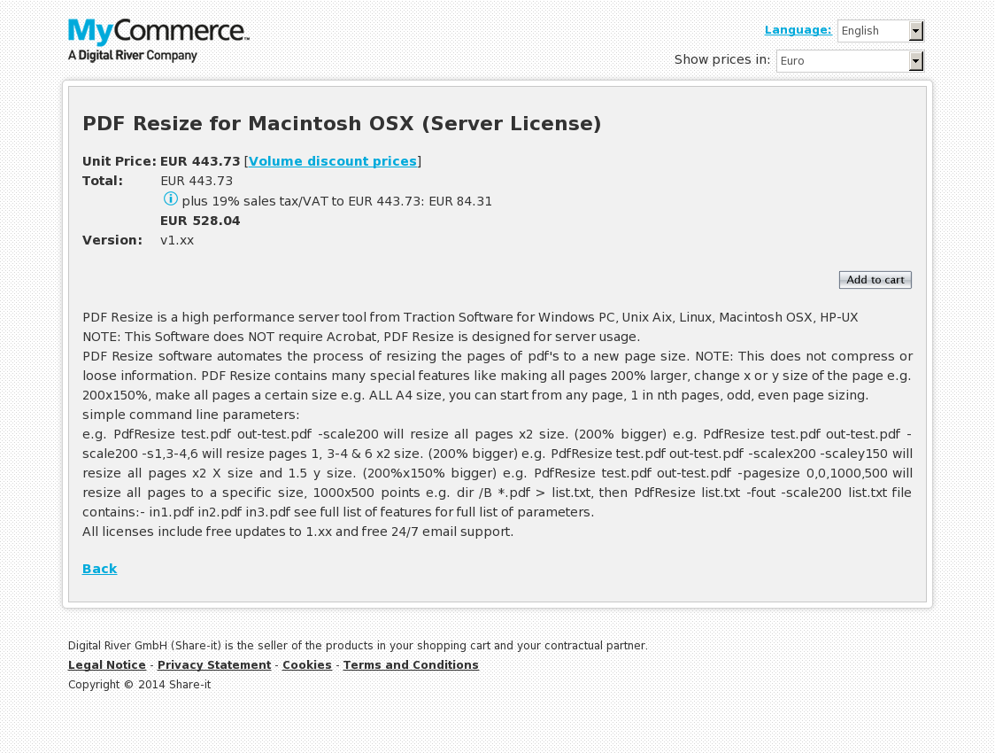 PDF Resize for Macintosh OSX (Server License)
