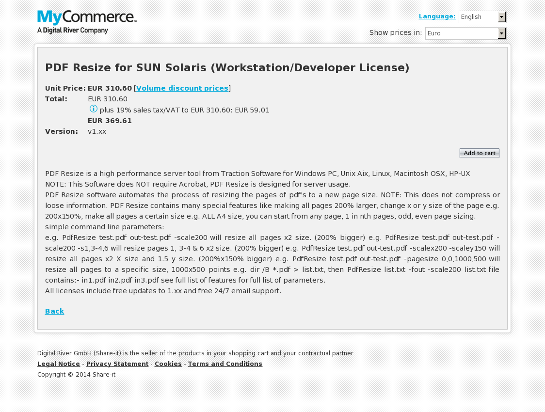PDF Resize for SUN Solaris (Workstation/Developer License)