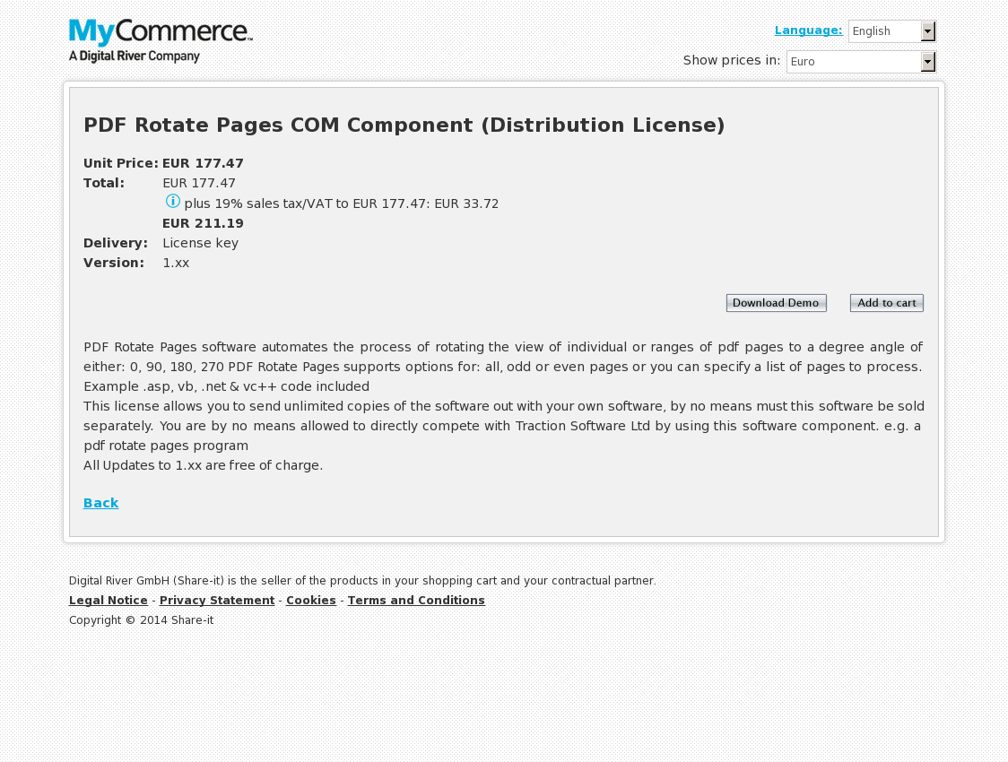 PDF Rotate Pages COM Component (Distribution License)