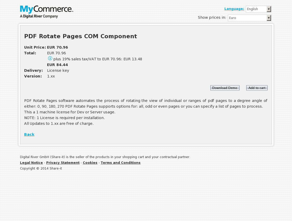 PDF Rotate Pages COM Component