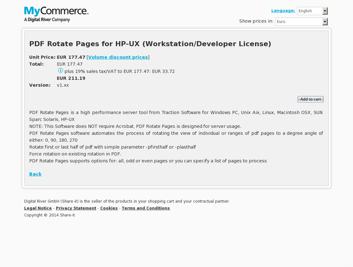 PDF Rotate Pages for HP-UX (Workstation/Developer License)