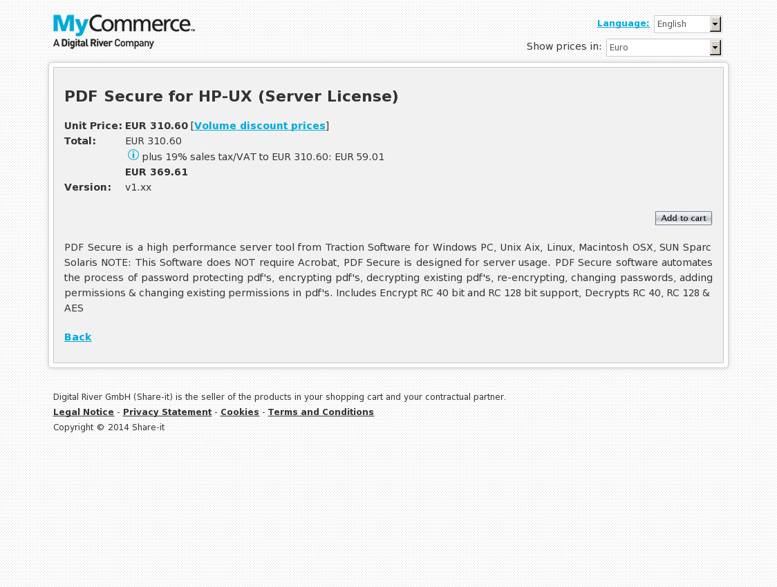 PDF Secure for HP-UX (Server License)