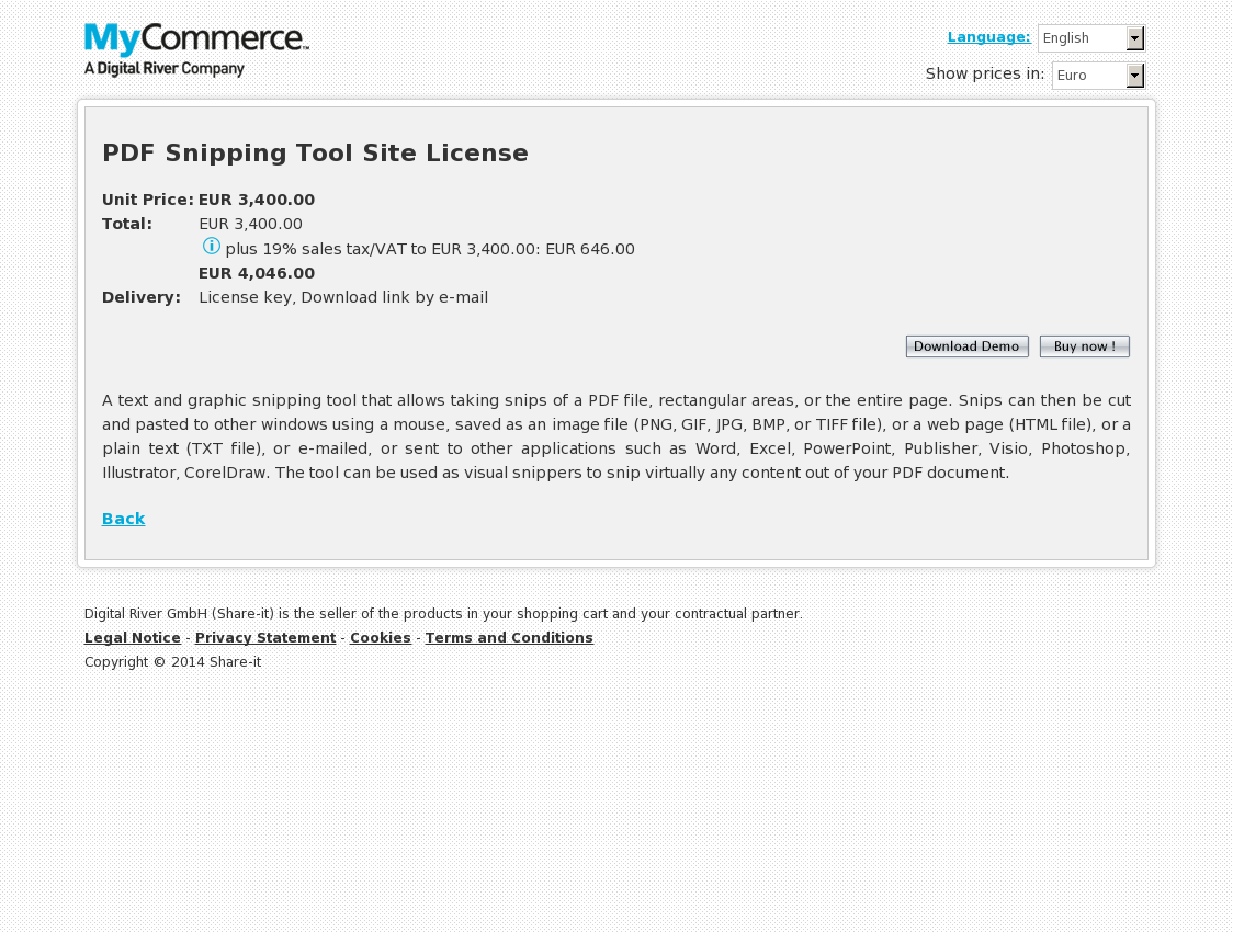 PDF Snipping Tool Site License