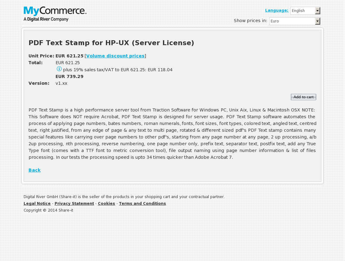 PDF Text Stamp for HP-UX (Server License)