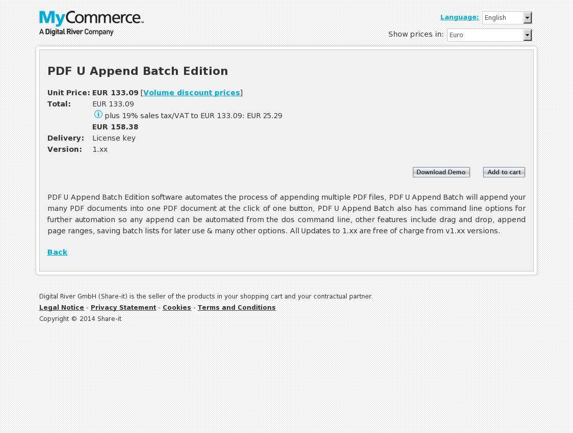 PDF U Append Batch Edition