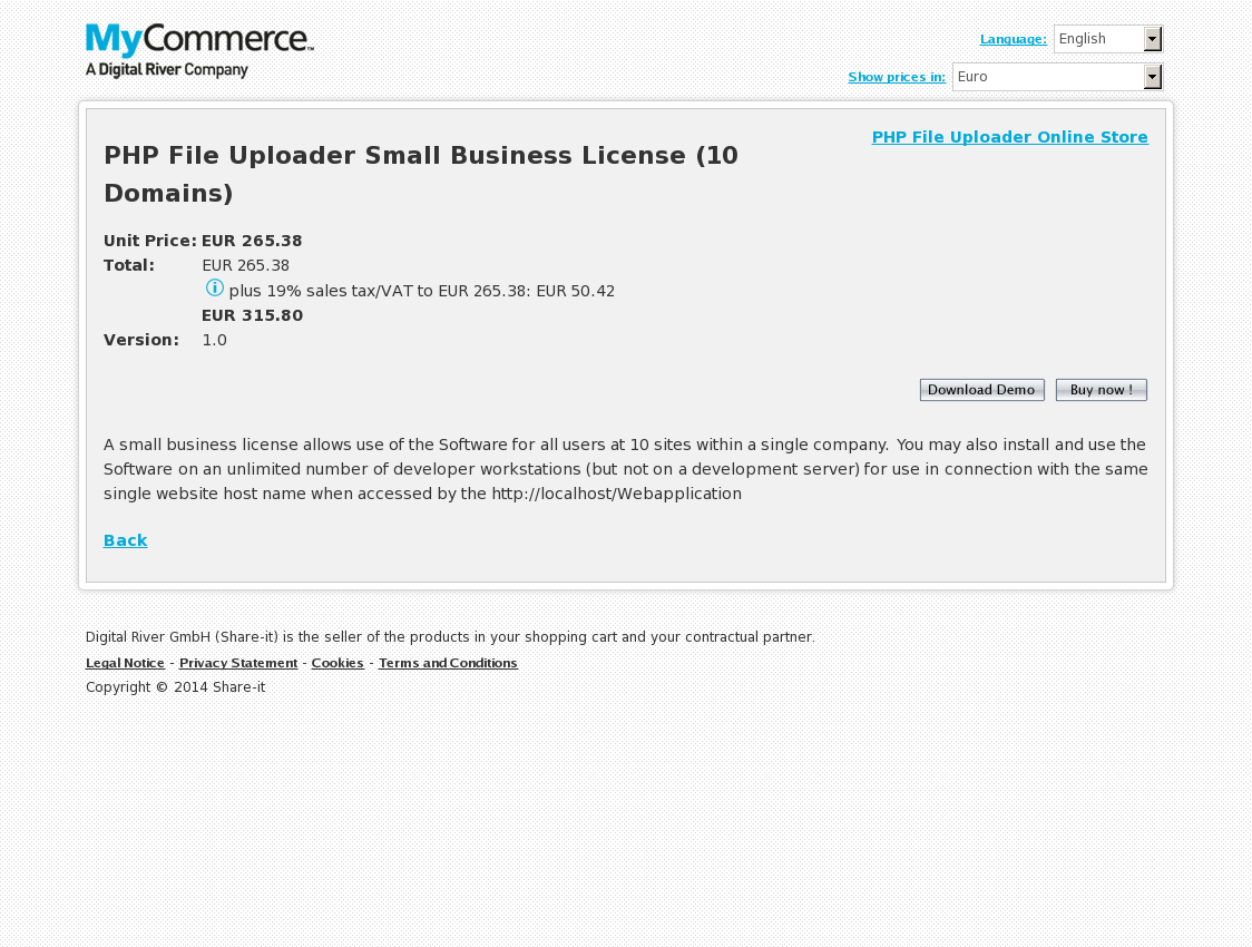PHP File Uploader Small Business License (10 Domains)