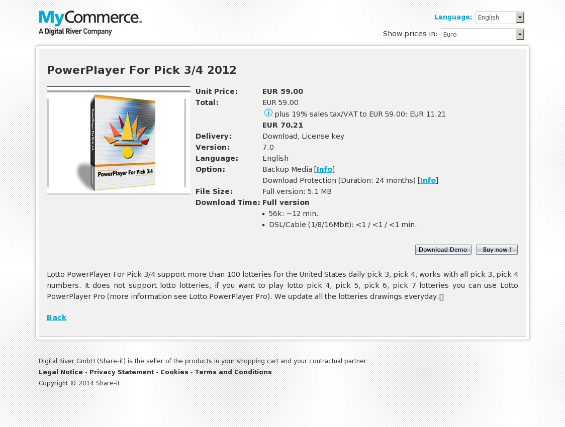 PowerPlayer For Pick 3/4 2012