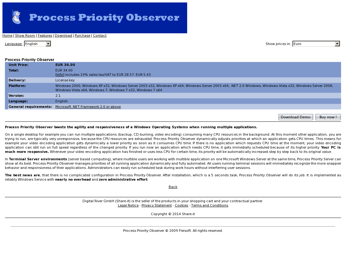 Process Priority Observer