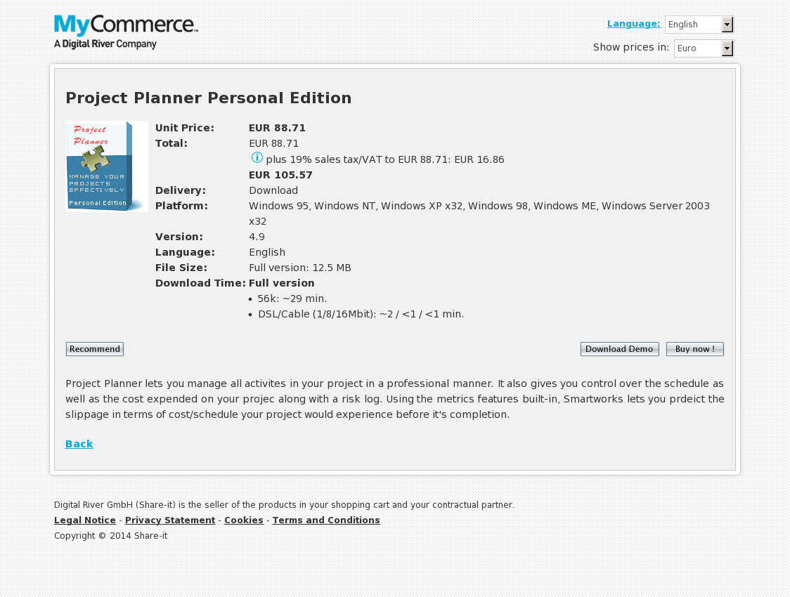 Project Planner Personal Edition