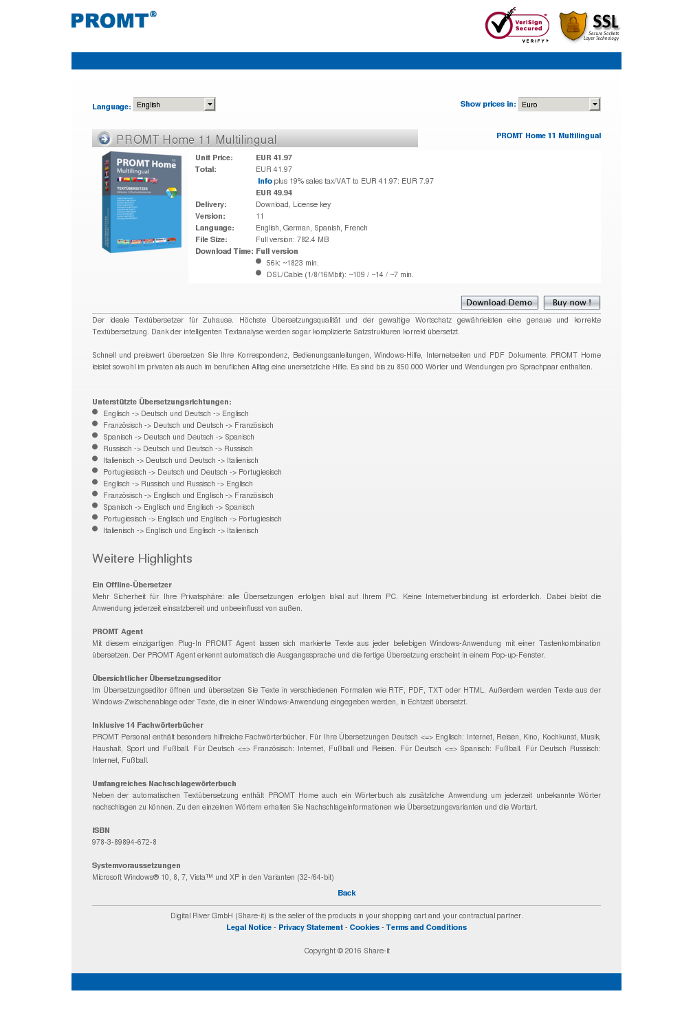 PROMT Home 11 Multilingual