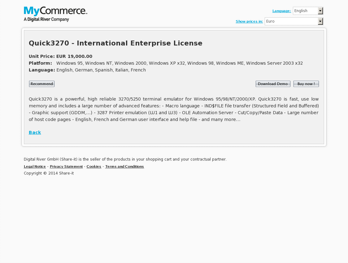 Quick3270 - International Enterprise License