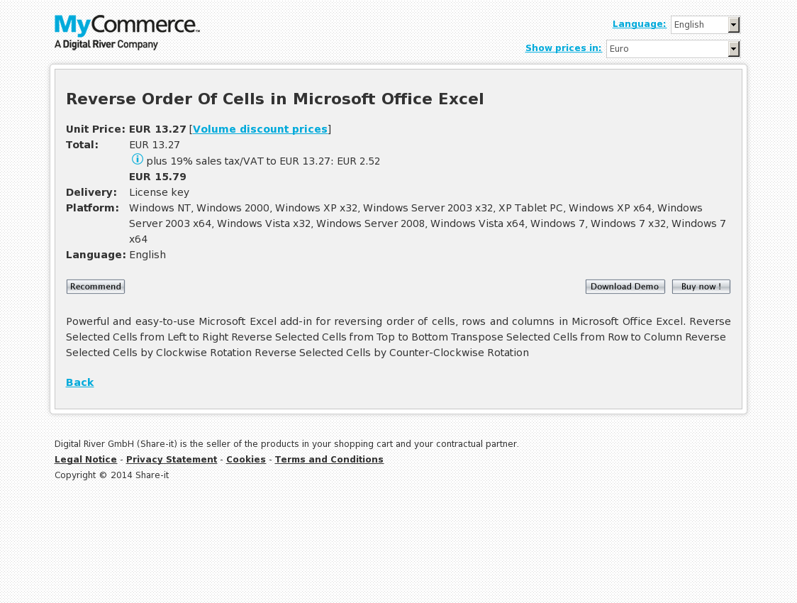 Reverse Order Of Cells in Microsoft Office Excel