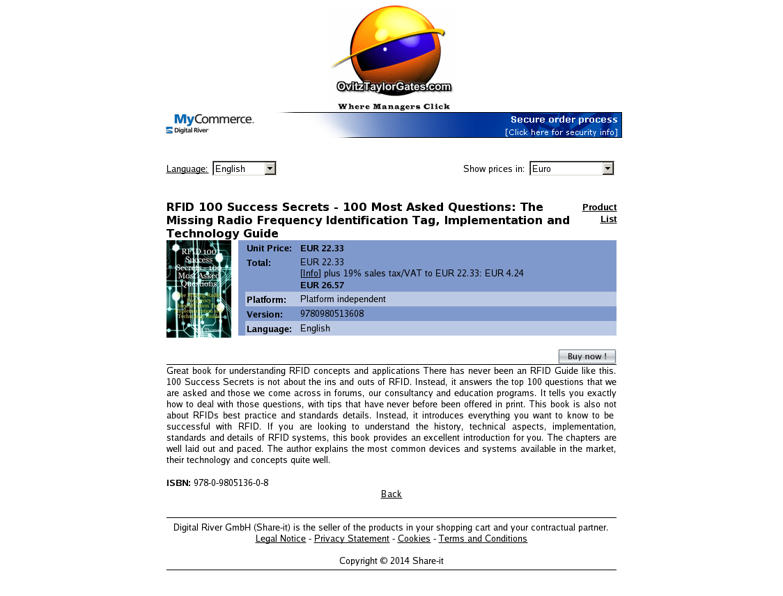 RFID 100 Success Secrets - 100 Most Asked Questions: The Missing Radio Frequency Identification Tag, Implementation and Technology Guide