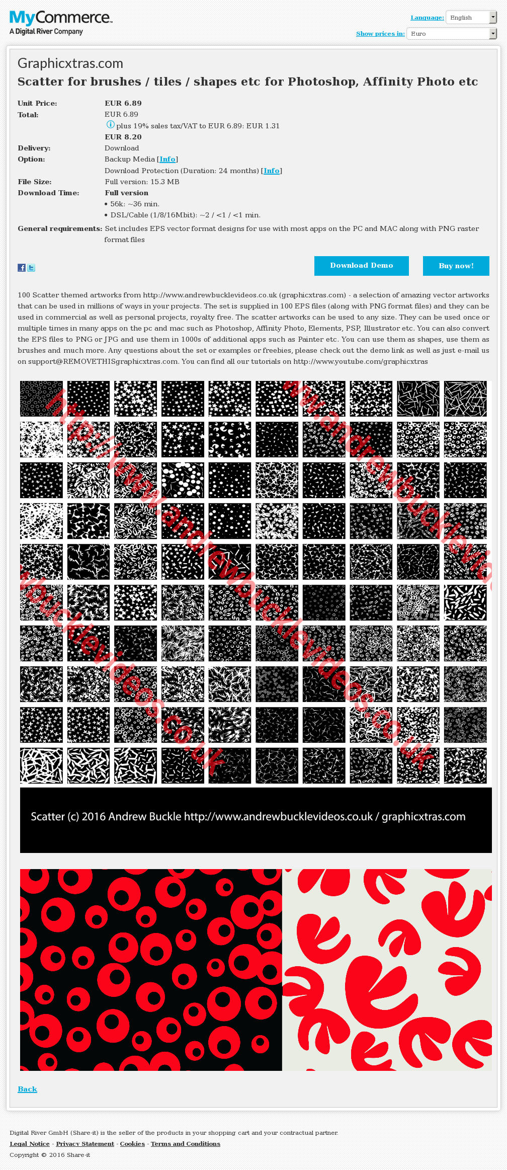 Scatter for brushes / tiles / shapes etc for Photoshop, Affinity Photo etc