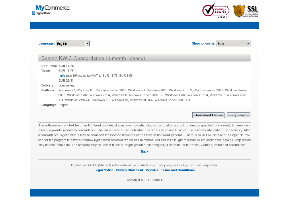 Search KWIC Concordance (3-month license)
