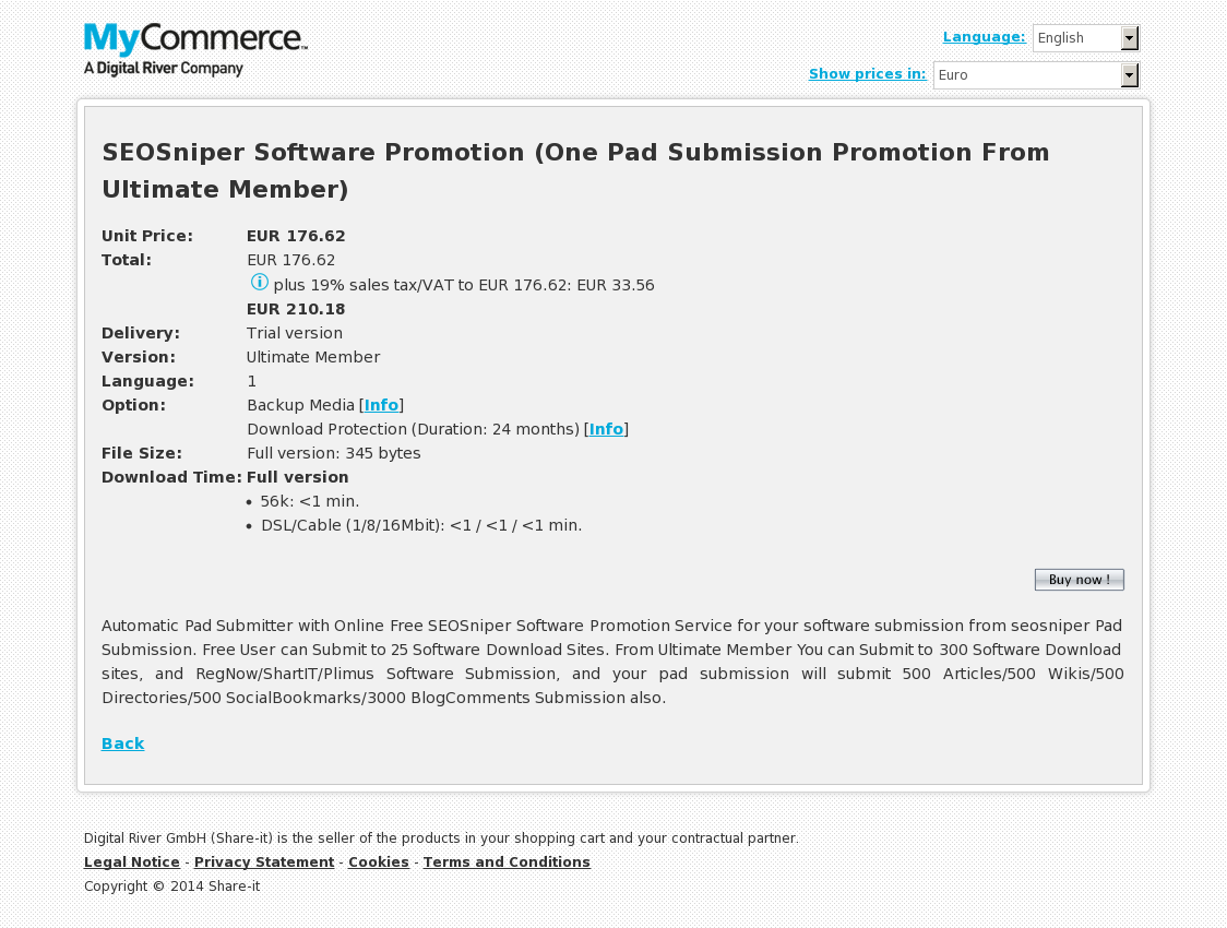 SEOSniper Software Promotion (One Pad Submission Promotion From Ultimate Member)