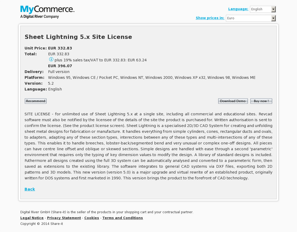 Sheet Lightning 5.x Site License