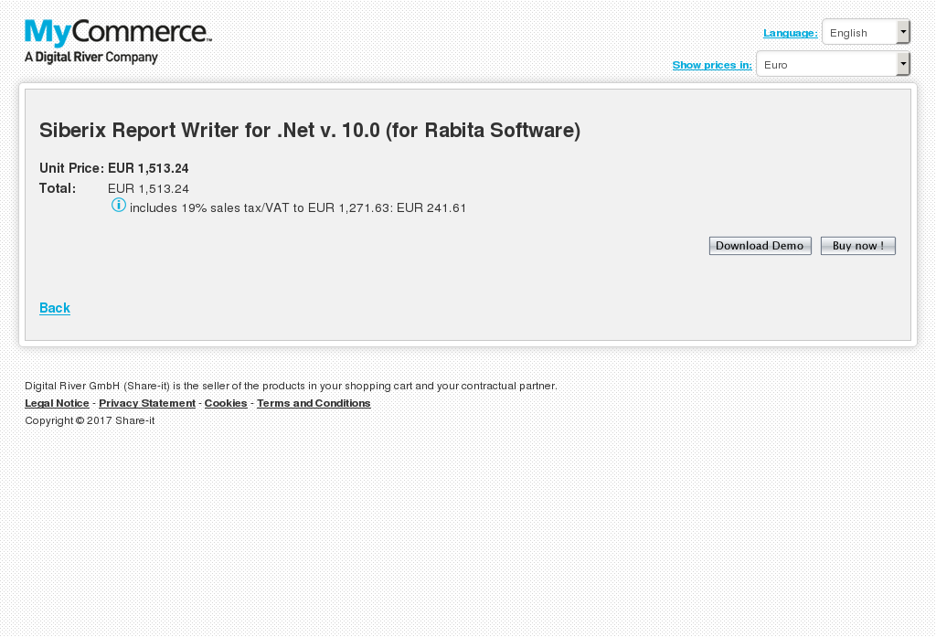 Siberix Report Writer for .Net v. 10.0 (for Rabita Software)