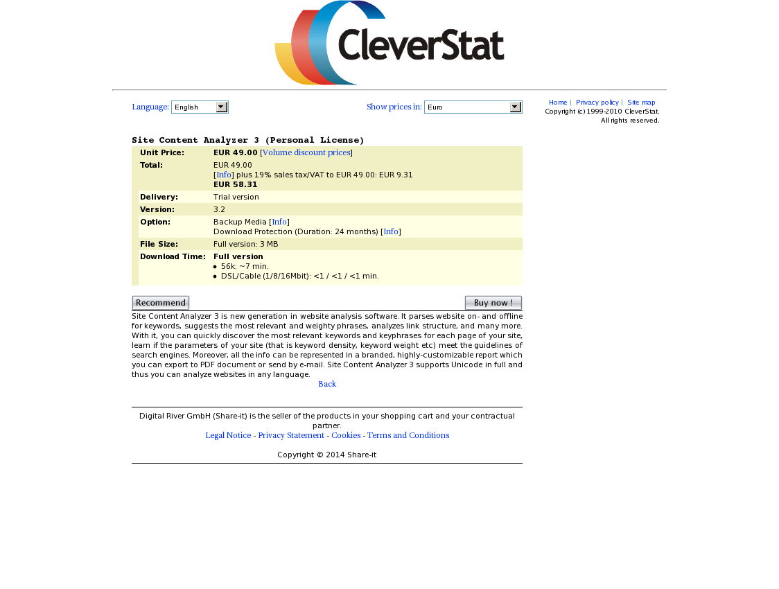 Site Content Analyzer 3 (Personal License)