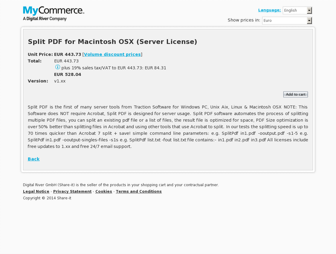 Split PDF for Macintosh OSX (Server License)