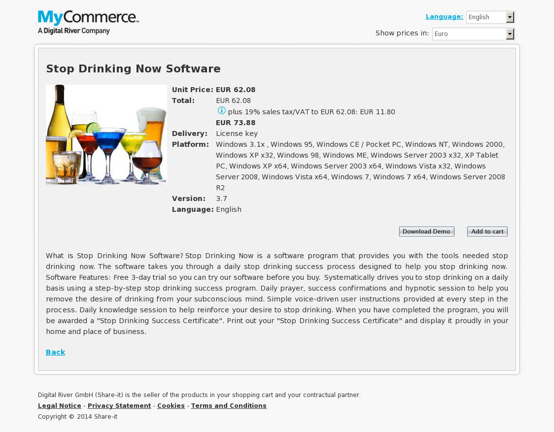 Stop Drinking Now Software