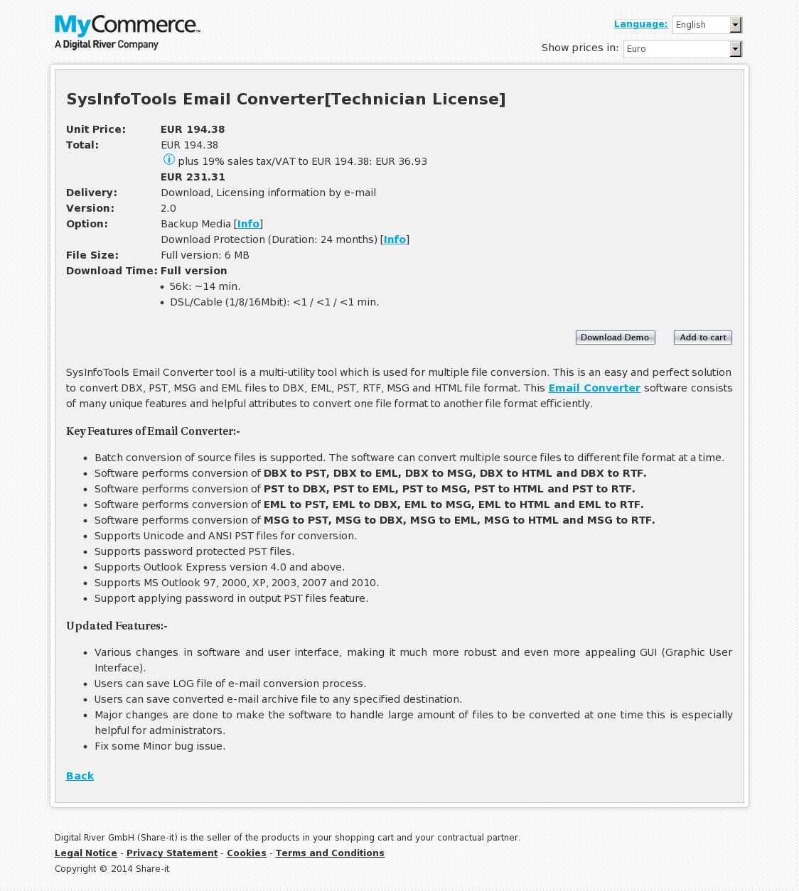 SysInfoTools Email Converter[Technician License]