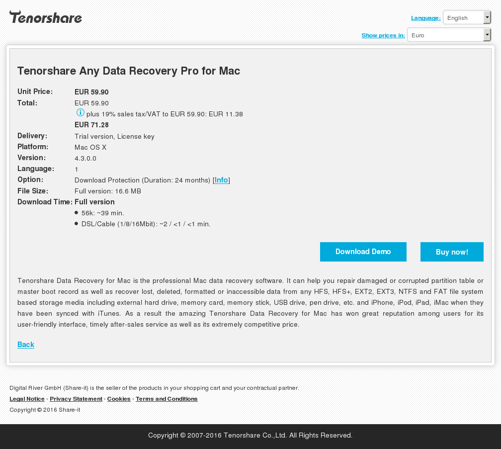 Tenorshare Any Data Recovery Pro for Mac